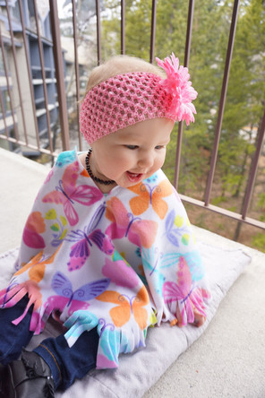 Spring Butterfly Poncho