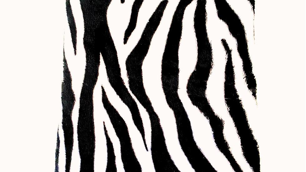 Black White Zebra Stroller Blanket