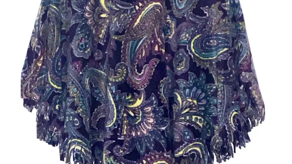 Purple Paisley Poncho