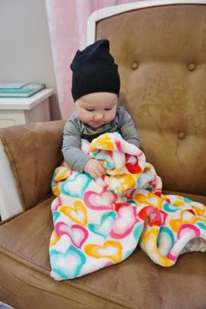 Hearts Stroller Blanket