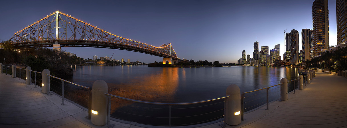 Brisbane City Bridge Dusk