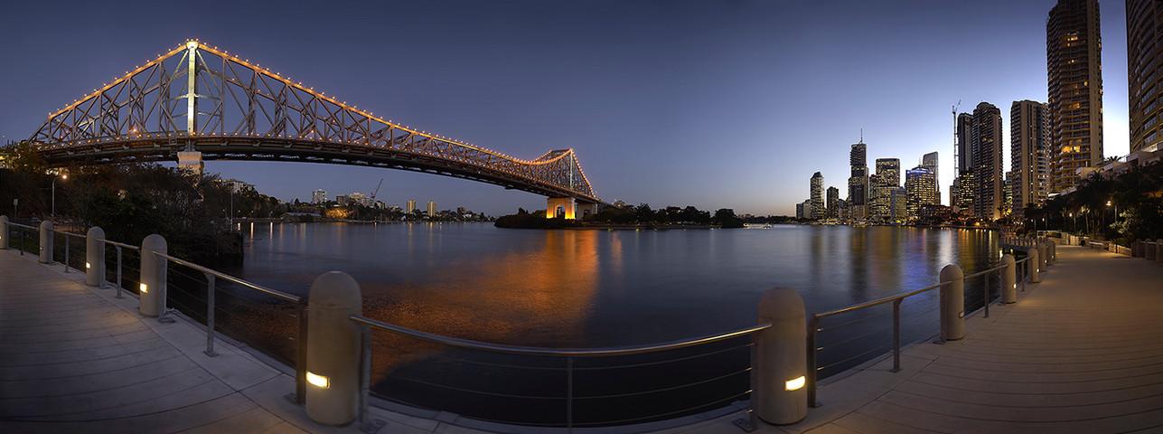 Brisbane City Bridge Dusk