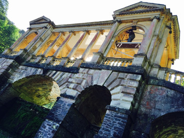 Prior Park gardens, Paladian Bridge repairs.