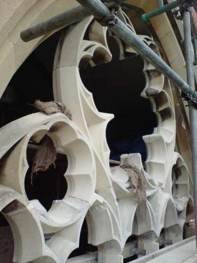 Holmstoke Church, new window tracery.