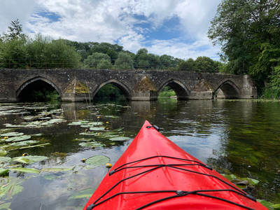 Exploring the Wiltshire Avon and the Barton Farm bridge that we repired