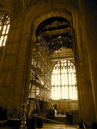 Sherborne Abbey,repairs to the Vaulting