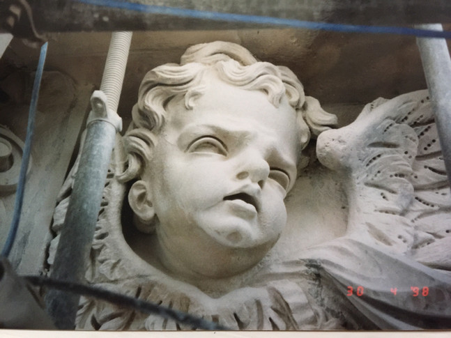 Cherub, after conservation, St Pauls Cathedral.