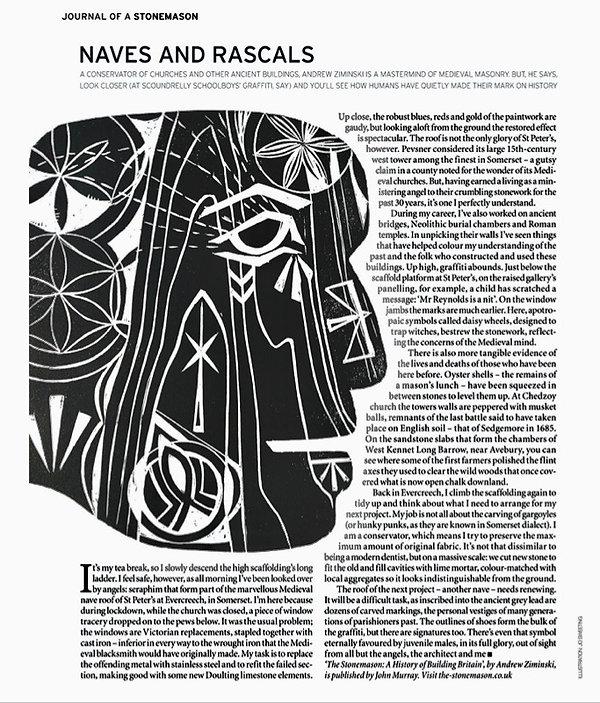 World of Interiors Feature - Journal Of A Stonemason