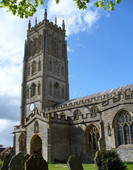 St Marys church tower, Chedzoy, after repairs.