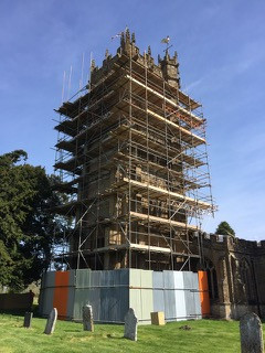 Scaffolding Shrouding Hinton St George Church