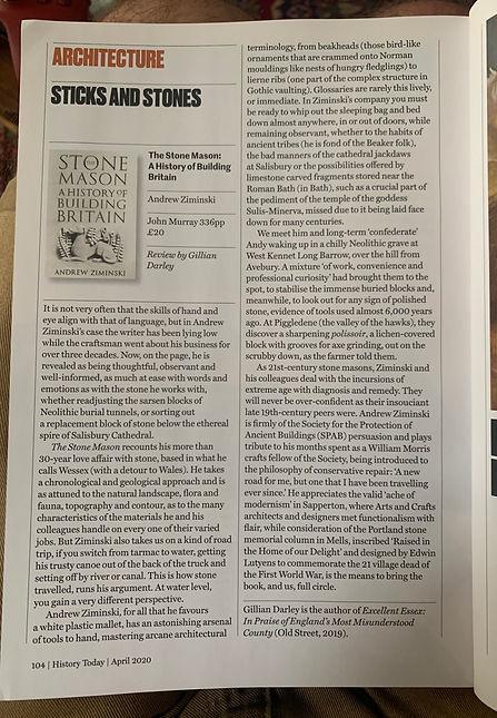 Gillian Darley Review -The Stonemason.