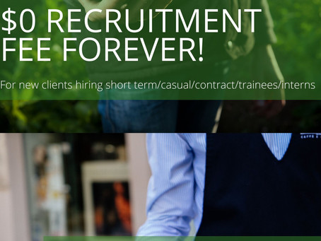 Spend $0 on Recruitment and Hiring forever! This is our commitment.