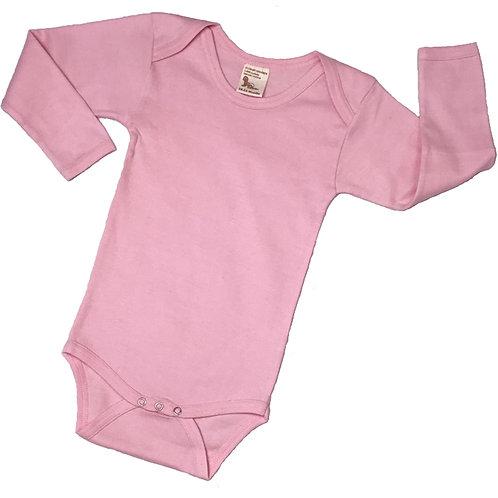 Organic Cotton Toddler Onesie Bodysuit Pink