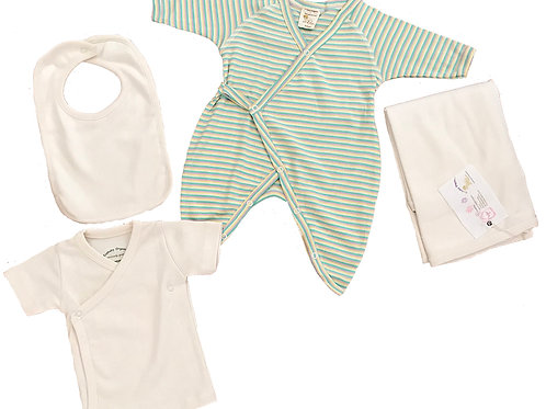 Organic Cotton Baby Kimono, Tee, Bib, Blanket
