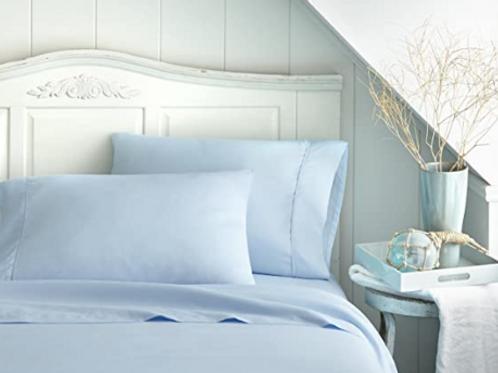 Organic Cotton Blue Sheets