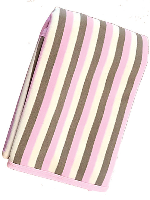 Organic Cotton Baby Receiving Blankets Pink Stripe