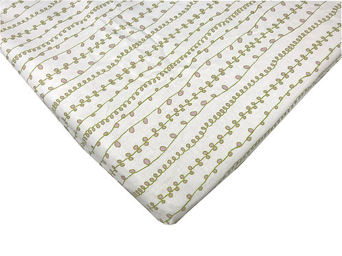 Organic Cotton Baby Sheet Stokke, Graco, DaVinci, Arms Reach
