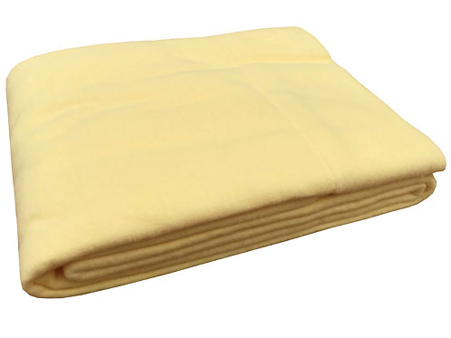 Organic Cotton Fleece Crib Fitted Sheet Yellow