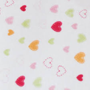 Organic Cotton Baby Receiving Blankets Hearts