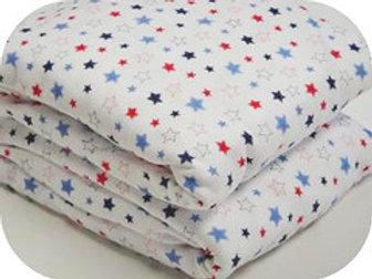 Organic Cotton Knit Pillowcase Stars