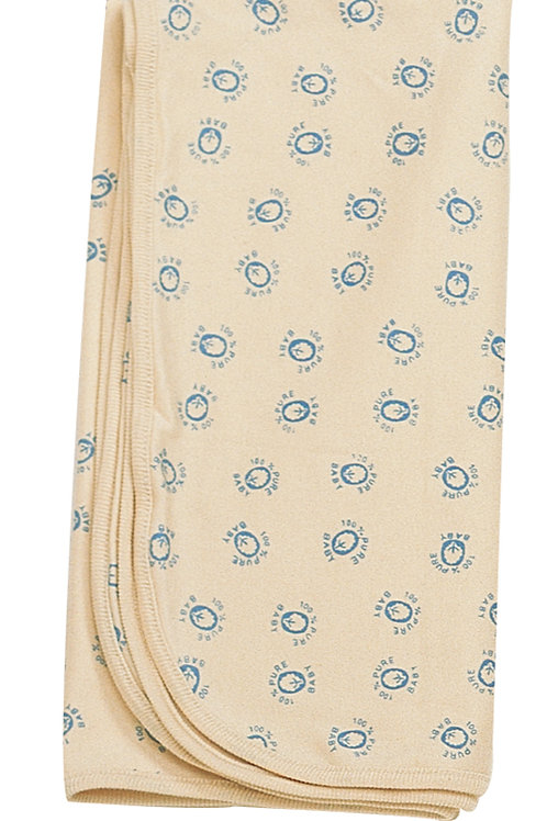 Organic Cotton Baby Receiving Blankets Blue Earthlings