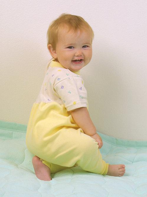 Organic Cotton Baby Jumpsuit Yellow