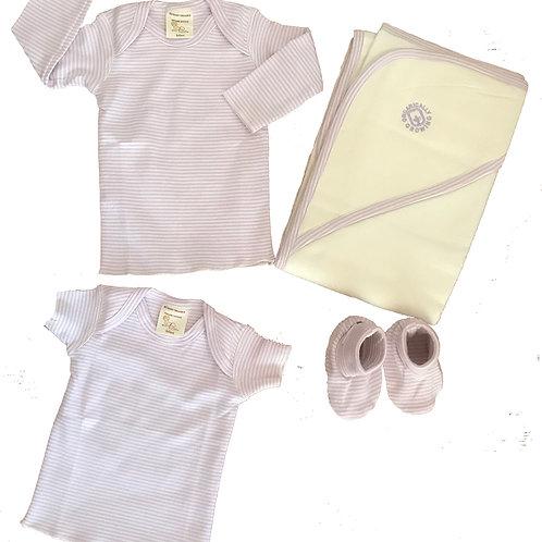 Organic Cotton Baby Hooded Towel, Tees, Booties
