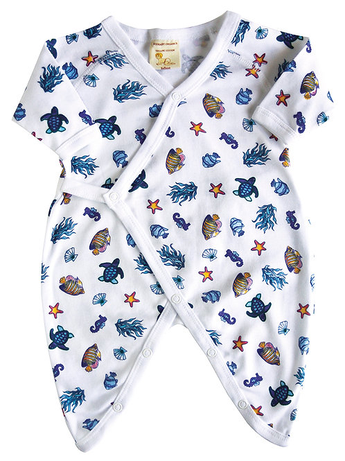 Organic Cotton Sea Creatures Baby Kimono