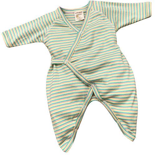 Organic Cotton Striped Baby Kimono
