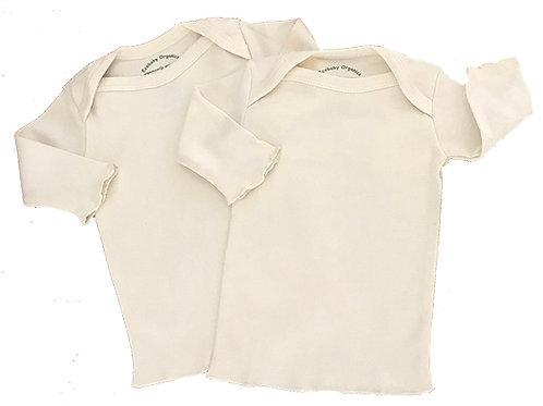 Organic Cotton Infant Lap Tee Shirts Natural