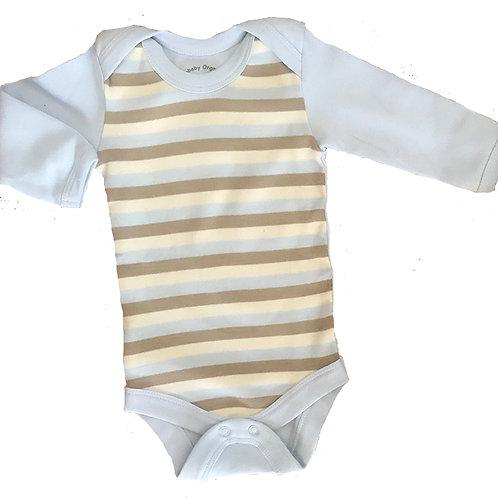 Organic Cotton Blue Baby Bodysuit Onesie