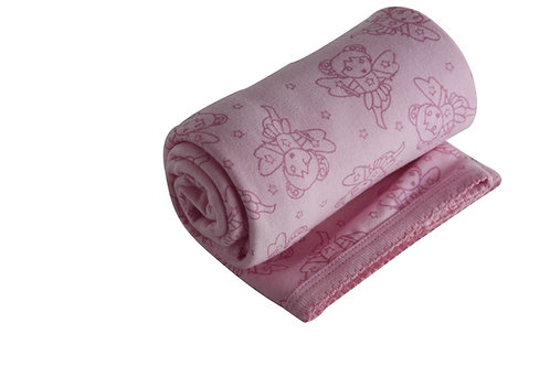 Organic Cotton Baby Receiving Blanket Pink Fairy