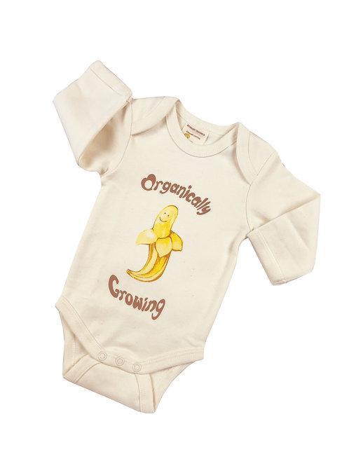 Organic Cotton Baby Onesie Natural Banana