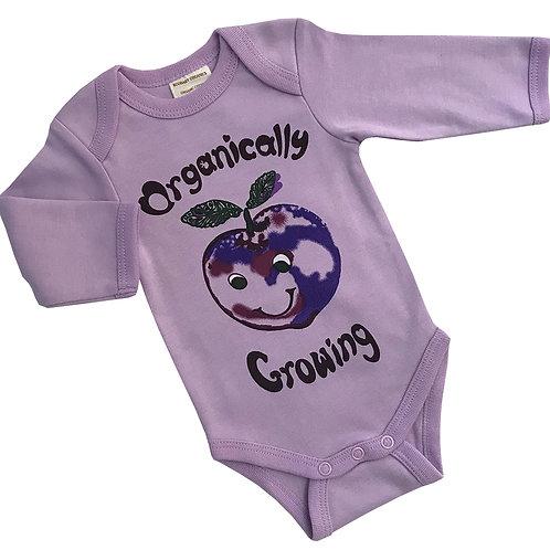 Organic Cotton Baby Bodysuit Onesie Purple Plum
