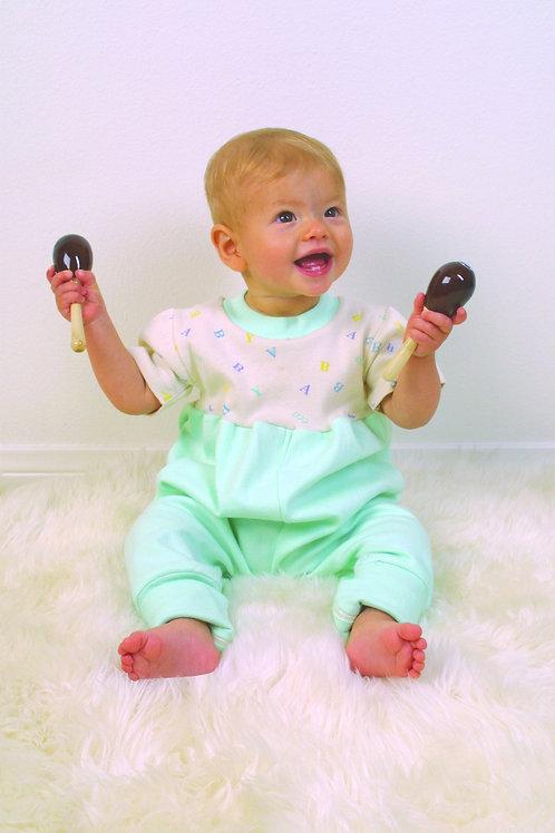 Organic Cotton Toddler Zip Jumpsuit Mint