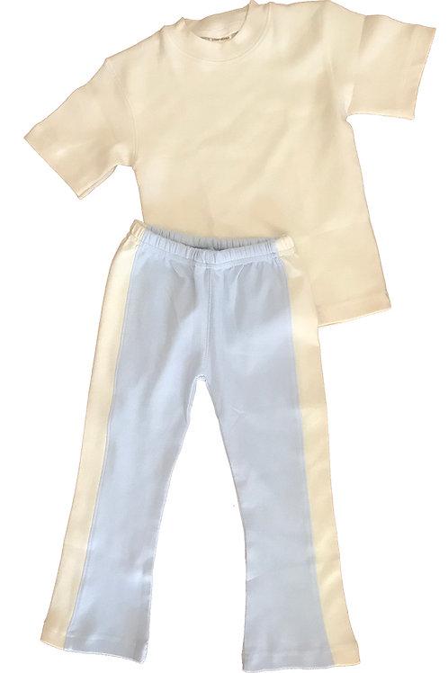 Organic Cotton Kids Blue Yoga Pant Set
