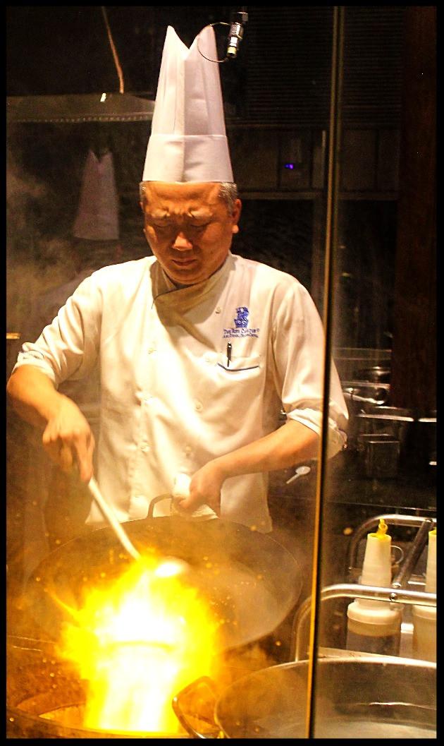 Li Jiang Chef in Open Kitchen