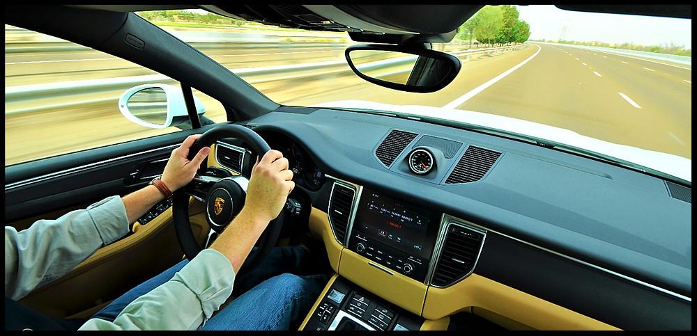 Porsche Macan Highway Driving
