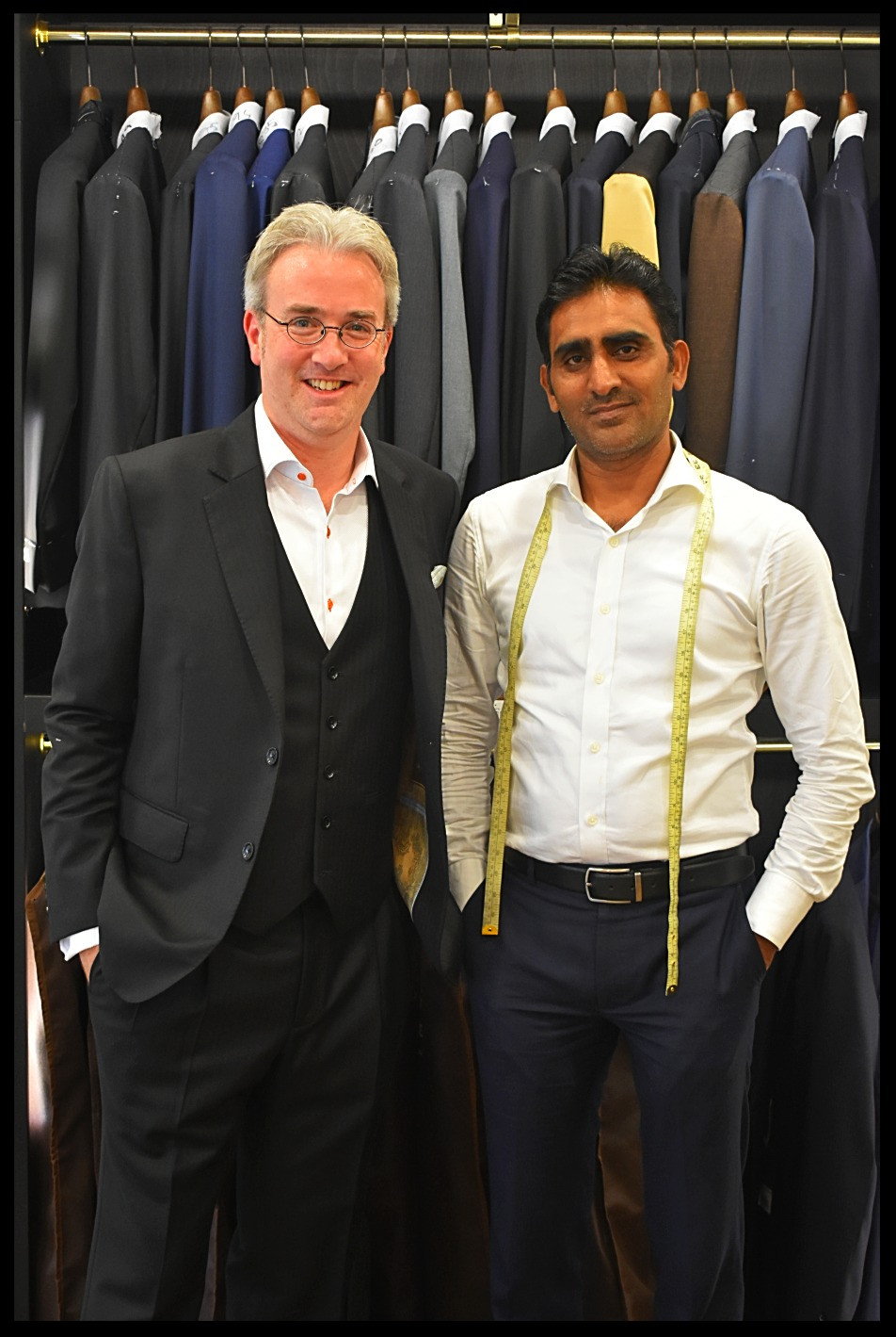 The Final Product with Master Tailor, Naim Ahmed - Allure Fine Tailoring, Abu Dhabi