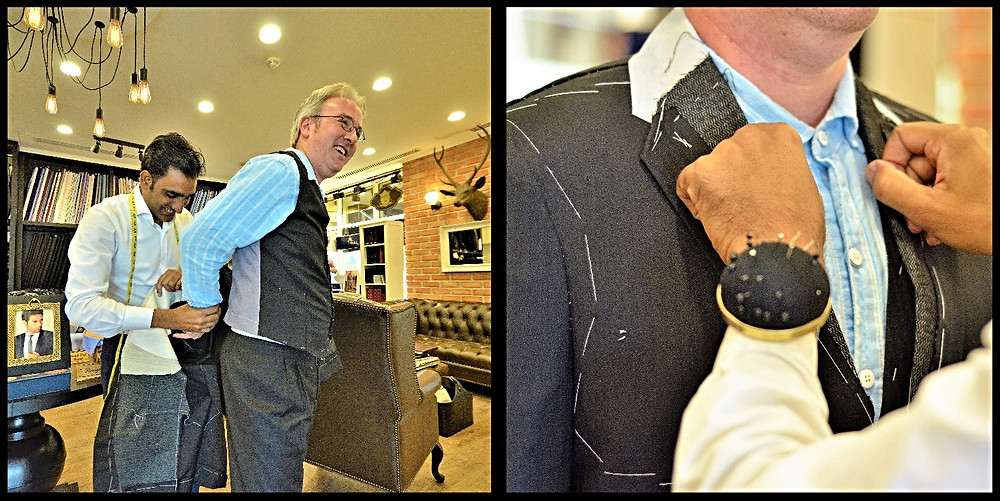 First Fitting With Master Tailor, Naim Ahmed - Allure Fine Tailoring, Abu Dhabi