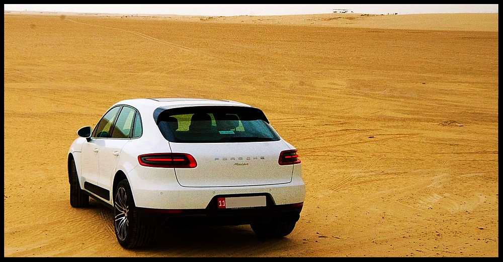 Porsche Macan Tail Lights in the Desert
