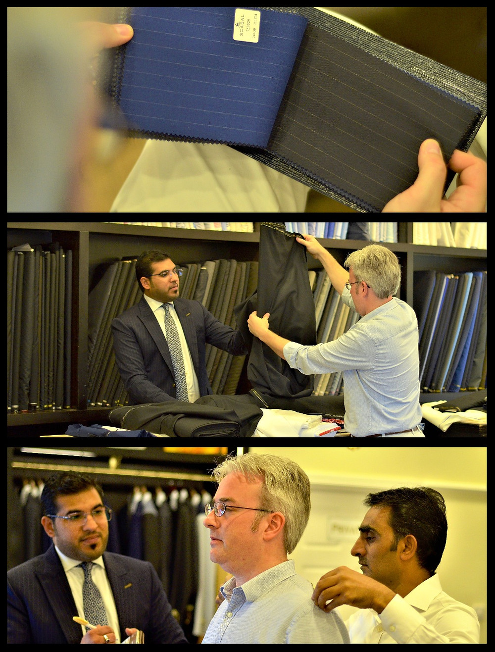 A Selection of Fabrics & Measurements - Allure Fine Tailoring