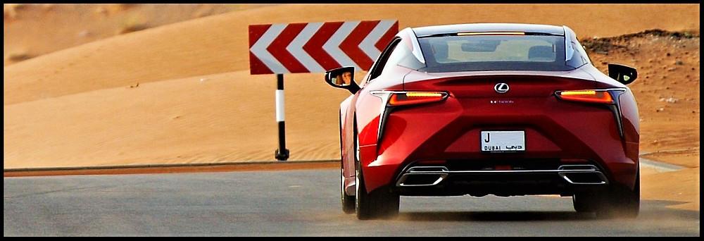 Lexus LC500h On The Move