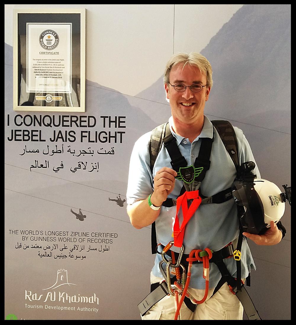 Jebel Jais Flight - Guinness World Record - Bradley Harden