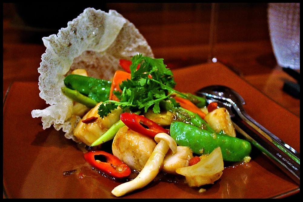 Wok Fried X.O. Scallops at Li Jiang - Ritz-Carlton Abu Dhabi