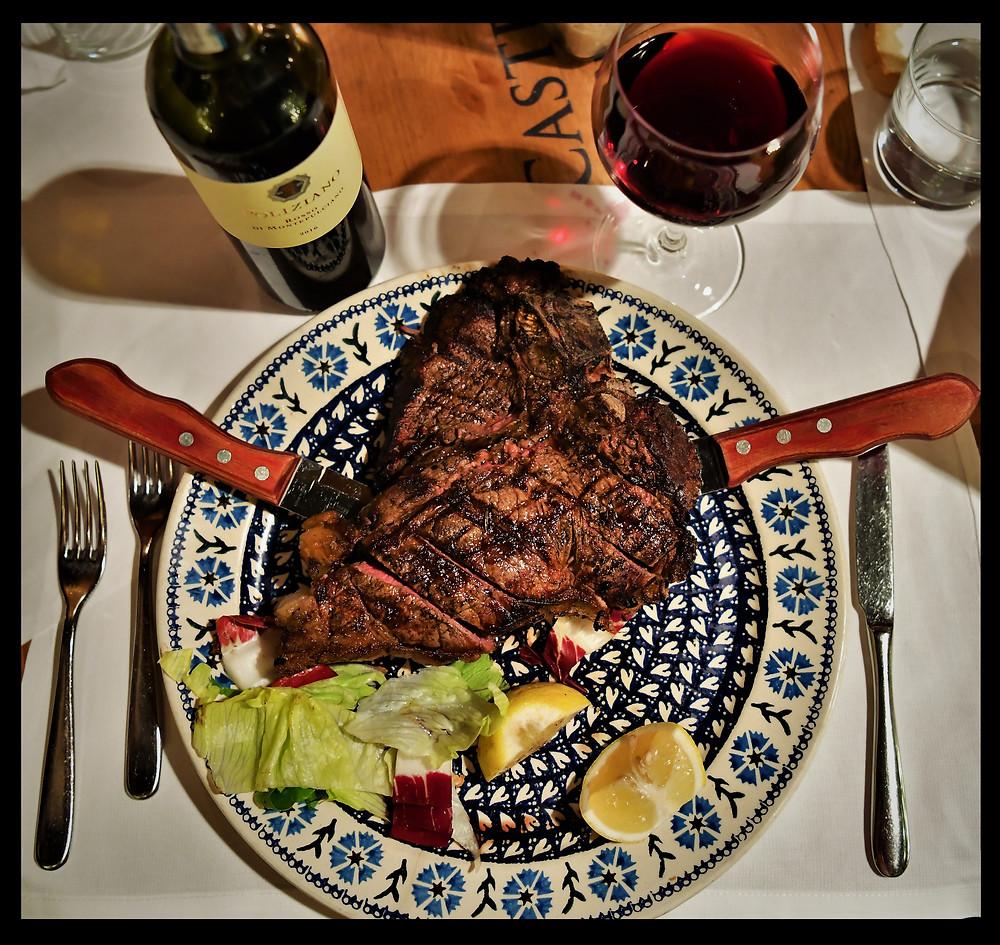 Trattoria 13 Gobbi's Fiorentina Steak, Florence, Italy