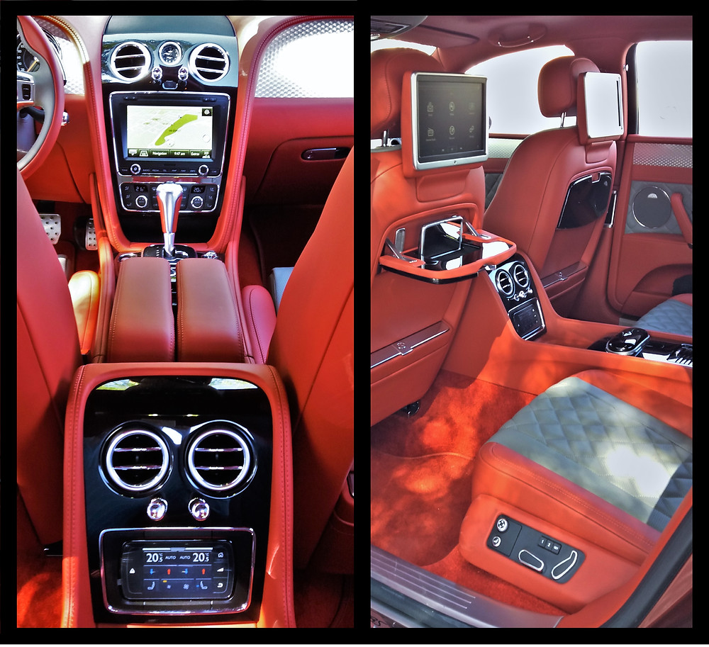 Bentley Flying Spur V8S Back Seat