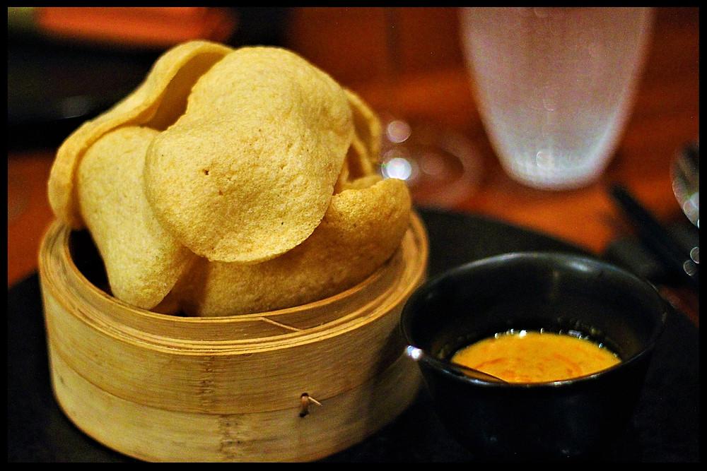 Shrimp Crisps at Li Jiang - Ritz-Carlton Abu Dhabi