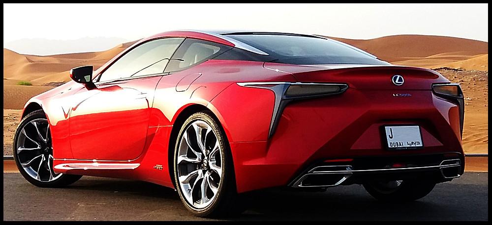 Lexus LC500h Rear View