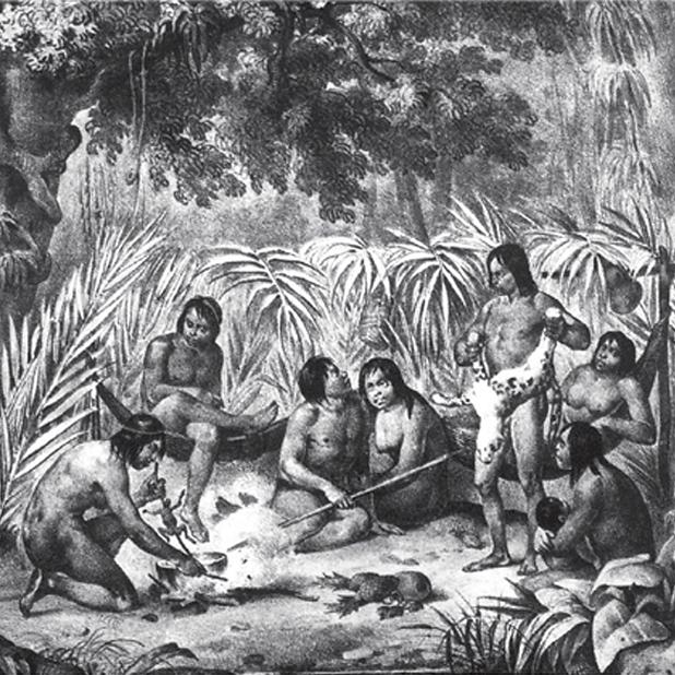 11. Índios em sua cabana. Data incerta.